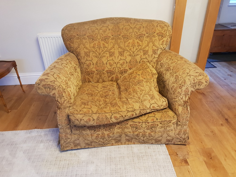 sofa refurb before